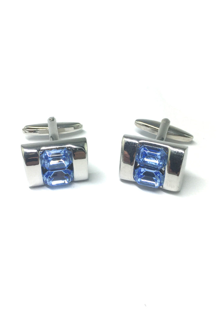 Blue Crystals Inserts Cufflinks