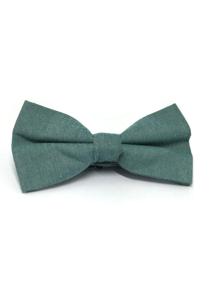 Lucid Series Emerald Green Polyester Fabric Bow Tie