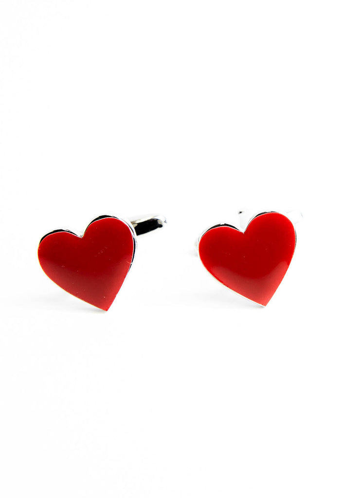 Red Heart Cufflinks