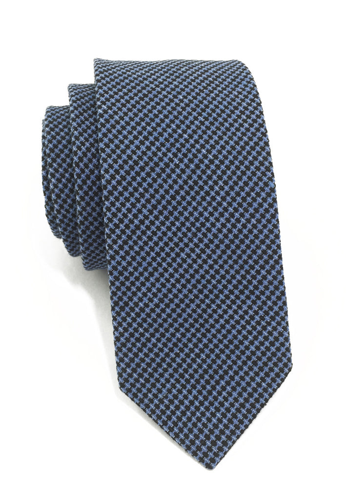 Goober Series Blue & Black Cotton Tie