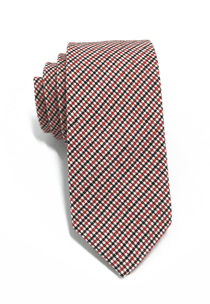 Goober Series Red Black & White Cotton Tie