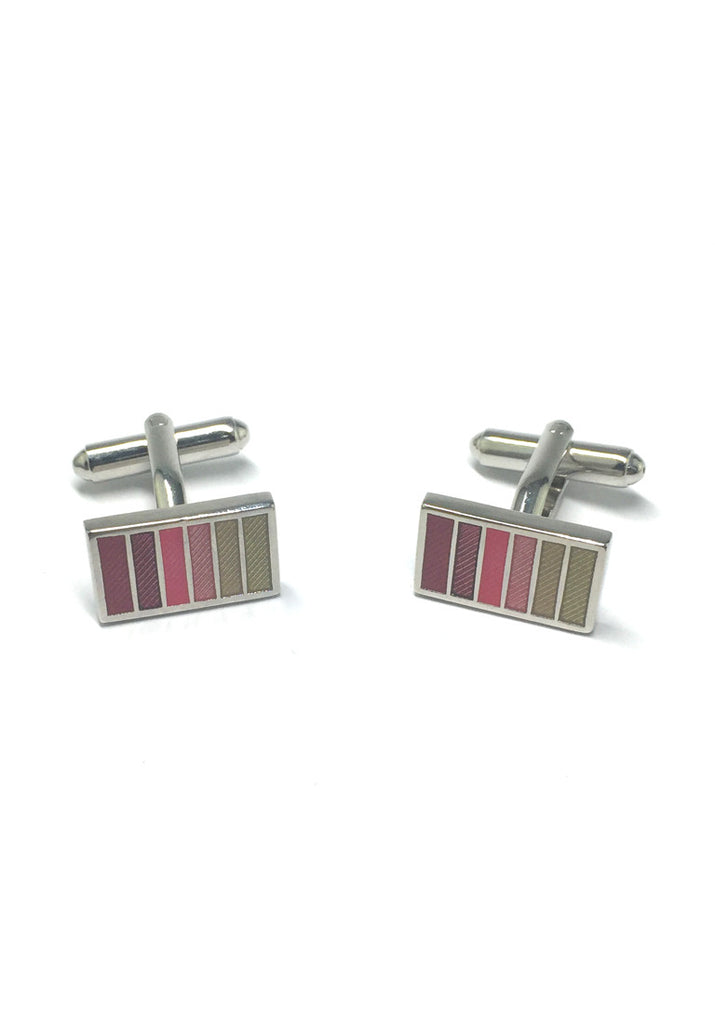 Colourful Columns Rectangular Cufflinks