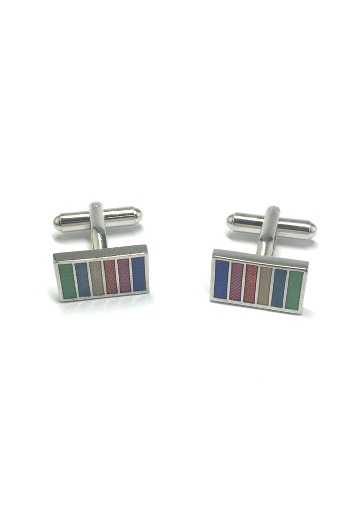 Colourful Columns Rectangular Cufflinks 2