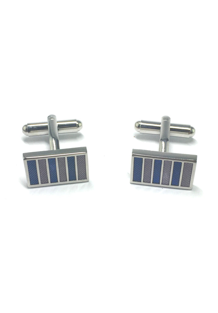 Colourful Columns Rectangular Cufflinks 3