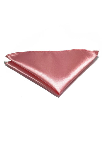 Lustrous Series Pink Polyester Pocket Square