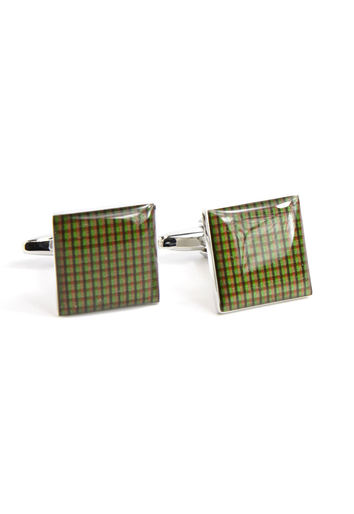 Brown Tartan Cufflinks