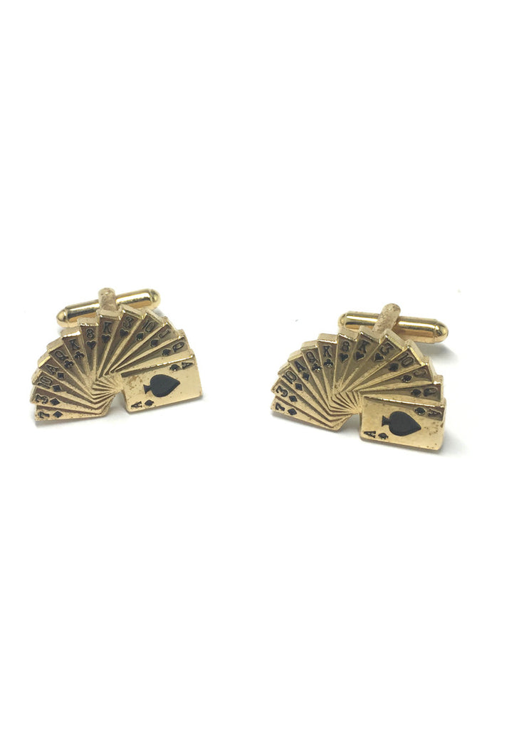 Gold Full Suits Cufflinks