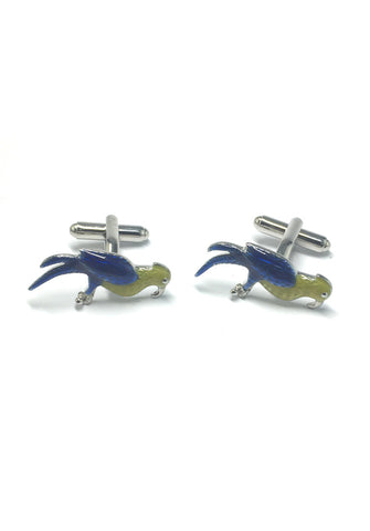 Yellow and Blue Bird Cufflinks
