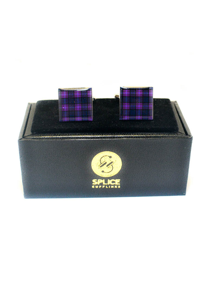Purple Tartan Cufflinks