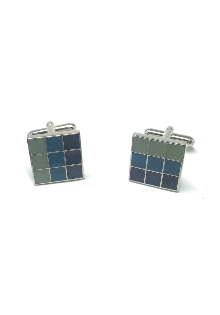 Colourful Columns Square Cufflinks