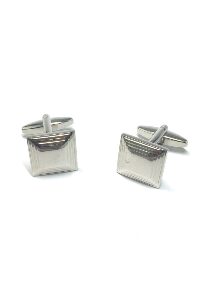 Silver 3D Square Cufflinks 2