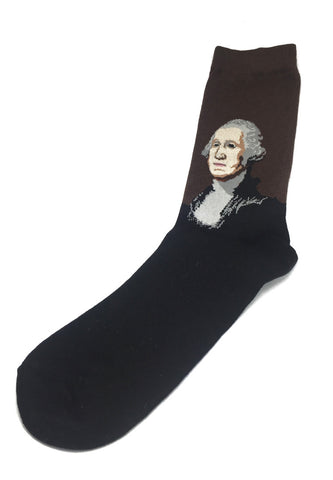 Illustrious Series Brown and Black George Washington Socks