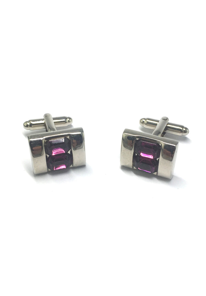 Purple Crystals Inserts Cufflinks