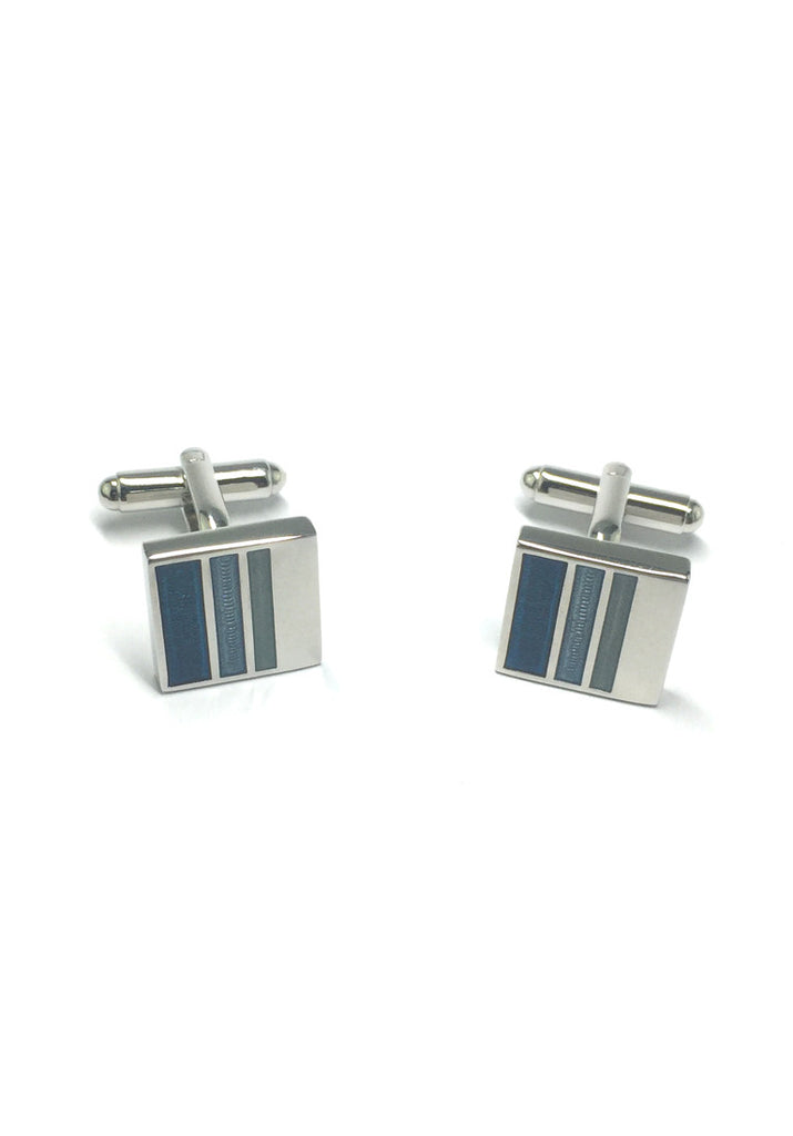 3 Stripes Square Cufflinks