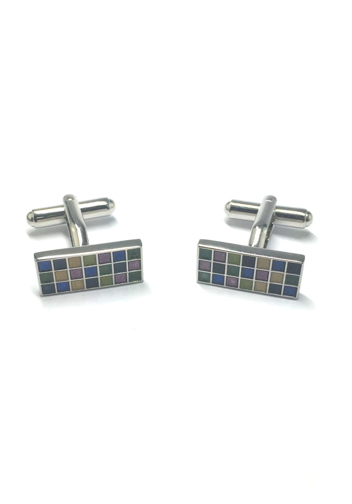 Colourful Squares Rectangular Cufflinks