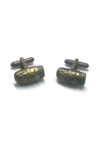 Antique Brass Ancient Stone Cufflinks