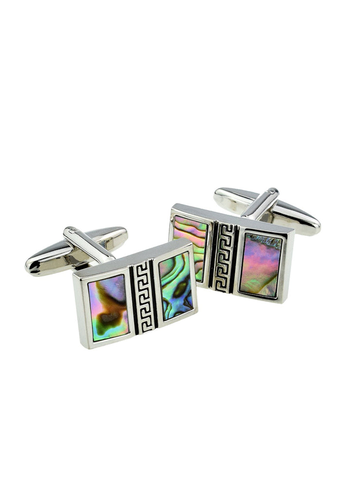 Abalone Shell Vertical Design Classic Cufflinks