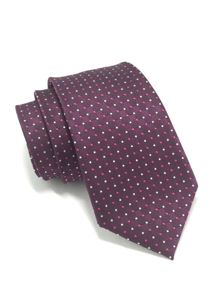 Atom Series Purple Polyester Tie