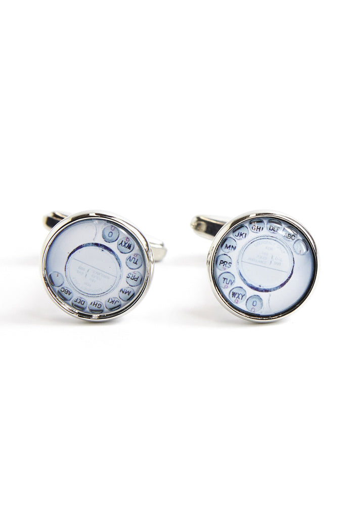 Retro Old Style Telephone Dial Cufflinks