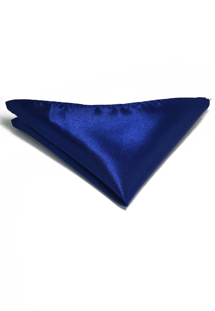 Lustrous Series Electric Blue Polyester Pocket Square