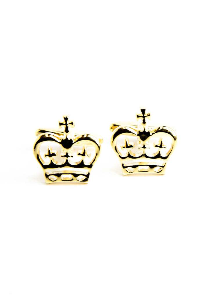 Golden Royal Crowns Cufflinks