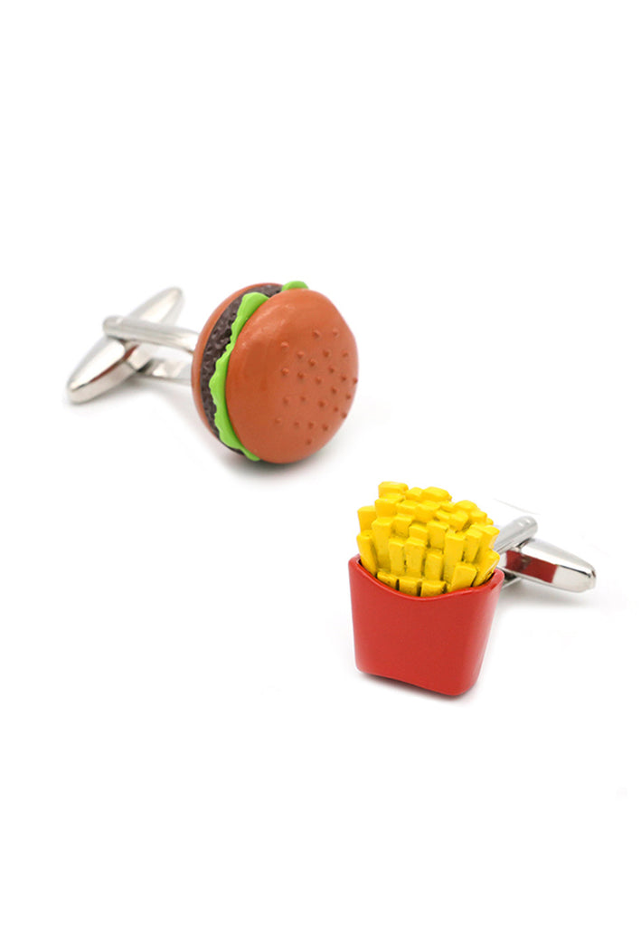Burger and Fries Cufflinks