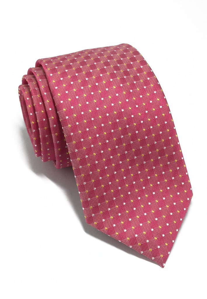 Atom Series Bright Pink Silk Tie