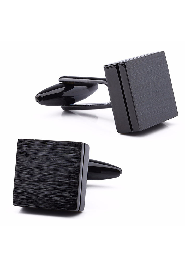 Matt Black Square Cufflinks