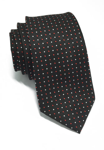 Atom Series Black Silk Tie