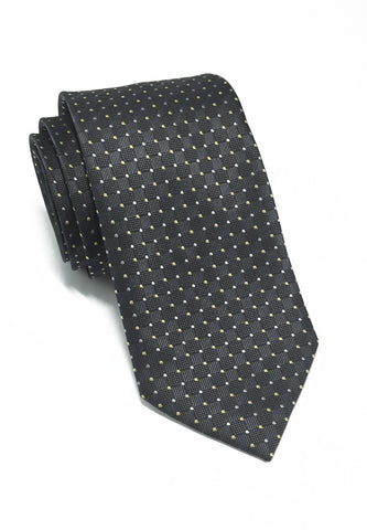 Atom Series Grey Silk Tie