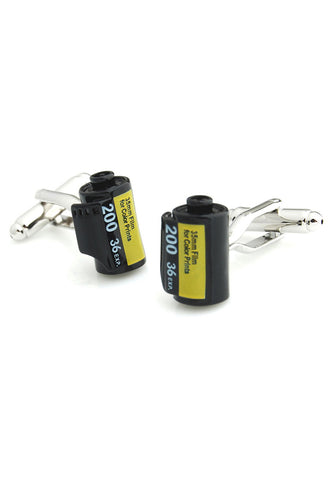 Black Camera Film Cufflinks
