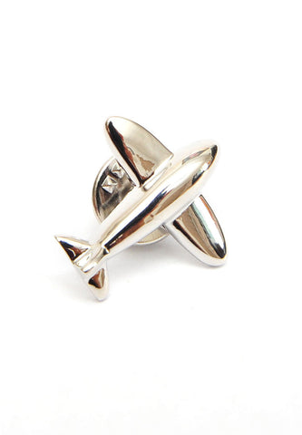 Modern Plane shaped Lapel Pin badge