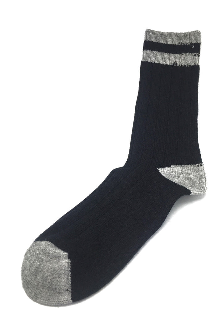 Blubbery Series Black with Light Grey Socks