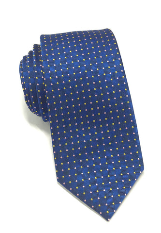 Atom Series Blue Silk Tie