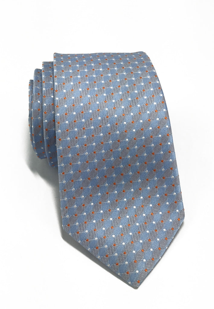 Atom Series Baby Blue Silk Tie