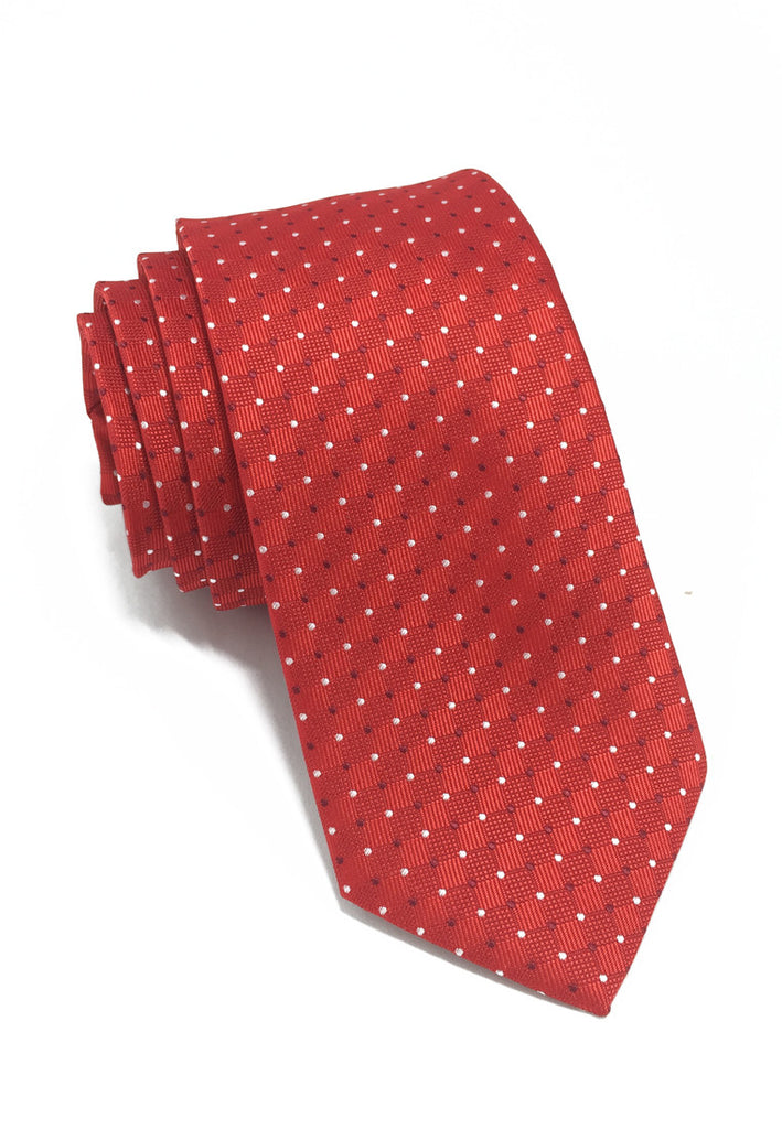Atom Series Red Polyester Tie