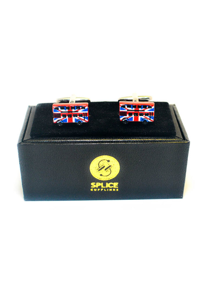 Union Jack London Red Bus Cufflinks