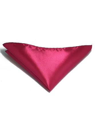 Lustrous Series Bright Pink Polyester Pocket Square
