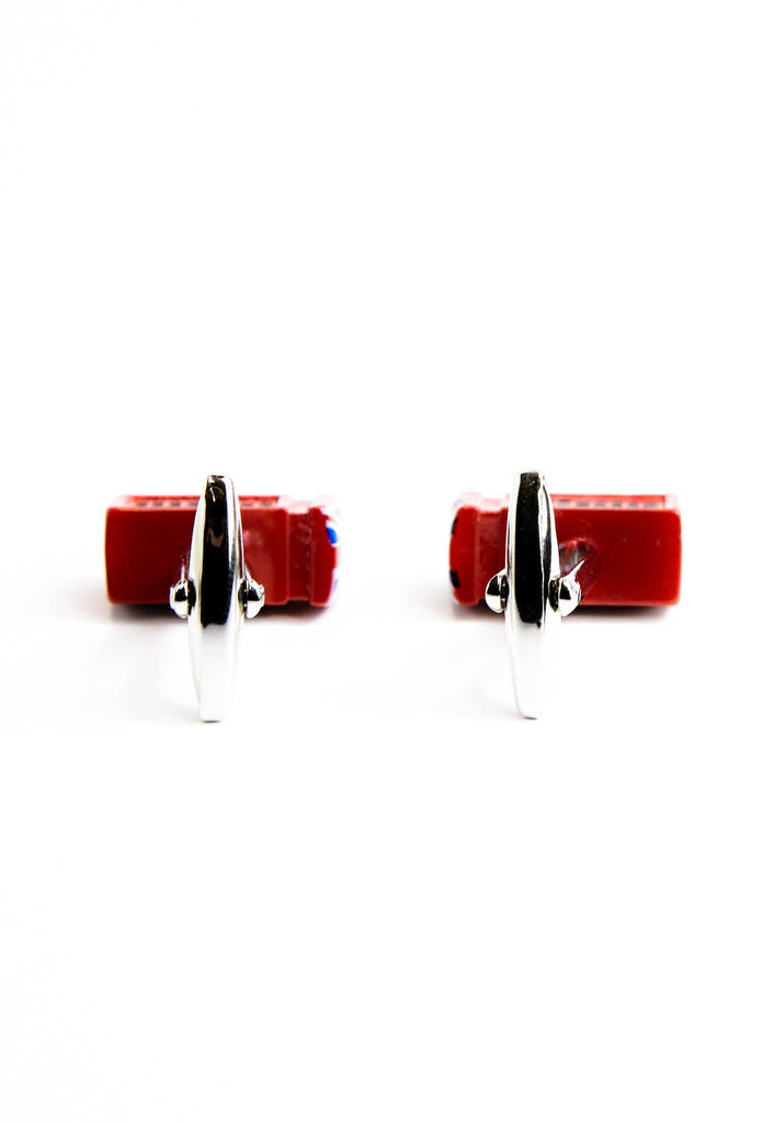 Telephone Box Cufflinks with Union Jack top