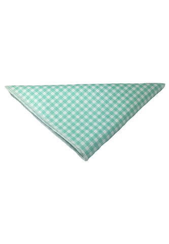 Patchwork Series Baby Green Plaids Design Cotton Pocket Square