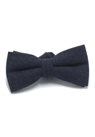Dolly Series Dark Blue Wool Pre-tied Bow Tie