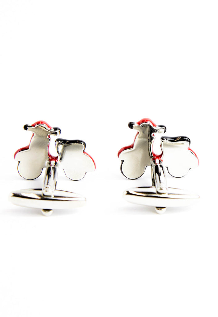 Scooter Cufflinks - Red