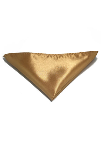 Lustrous Series Gold Polyester Pocket Square
