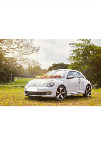 Volkswagen Beetle bridal car available for rent during weddings/special occasions