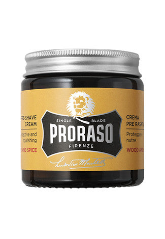 Proraso Pre-Shave cream: Wood & Spice, 3.6 oz (100 ml)