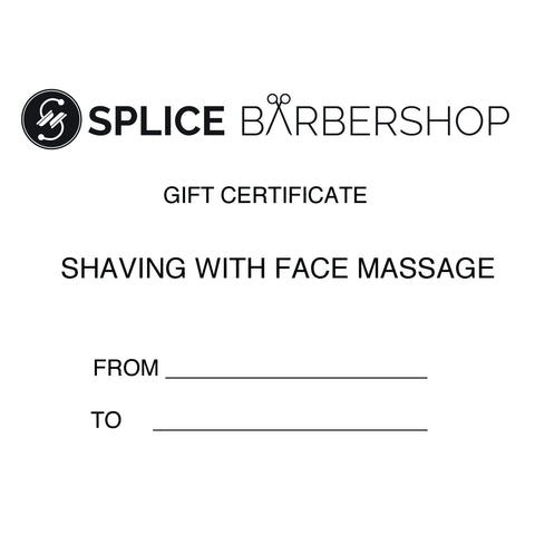 Gift Voucher - Shaving with Face Massage