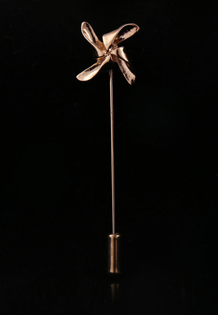 Gold Windmill Lapel Pin