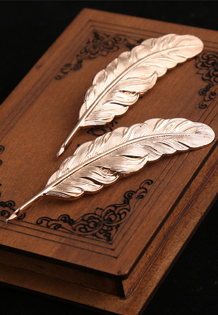 Gold Feather Pen Lapel Pin