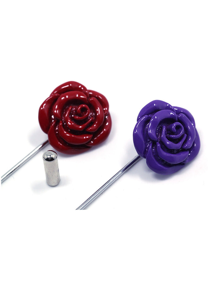 Red Copper Rose Lapel Pin