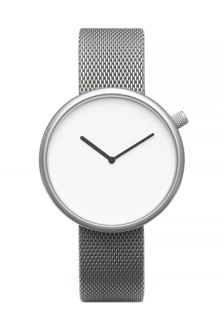 Bulbul Ore Matte Steel on German Made Milanese Mesh Band Watch
